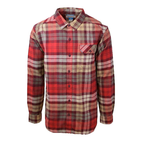 Columbia Men's Weston Pass Red & Beige Plaid L/S Flannel
