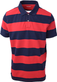 Timberland Men's Red & Navy Striped S/S Polo Shirt S09