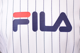 FILA Men's White Navy Stripe S/S Tee (S03) Size Small