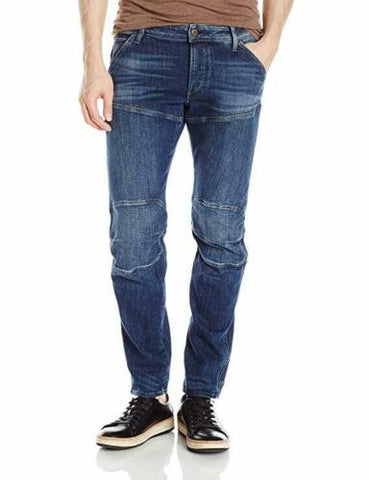 G-STAR RAW Men's 5620 Deconstructed 3D Low Tapered Cerro Stretch Denim Jeans