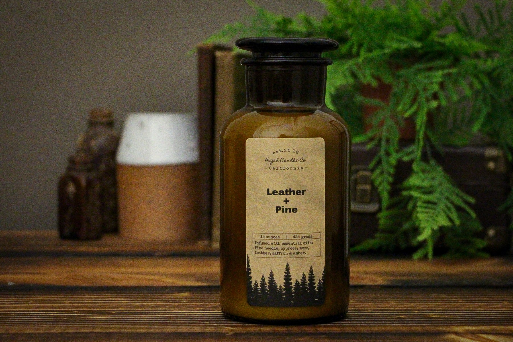 Limited Edition Leather & Pine Apothecary Soy Candle