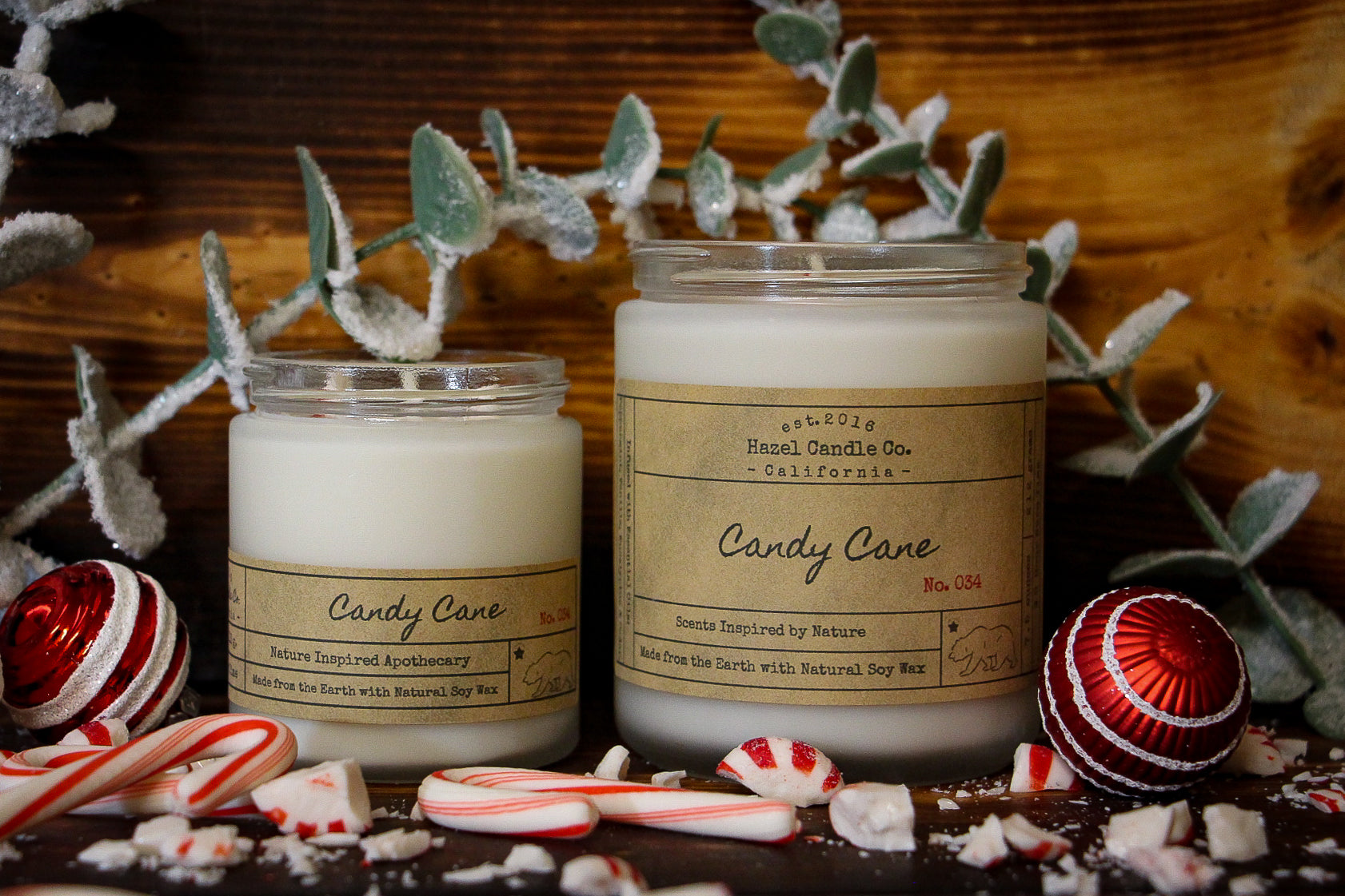 Candy Cane Soy Candle