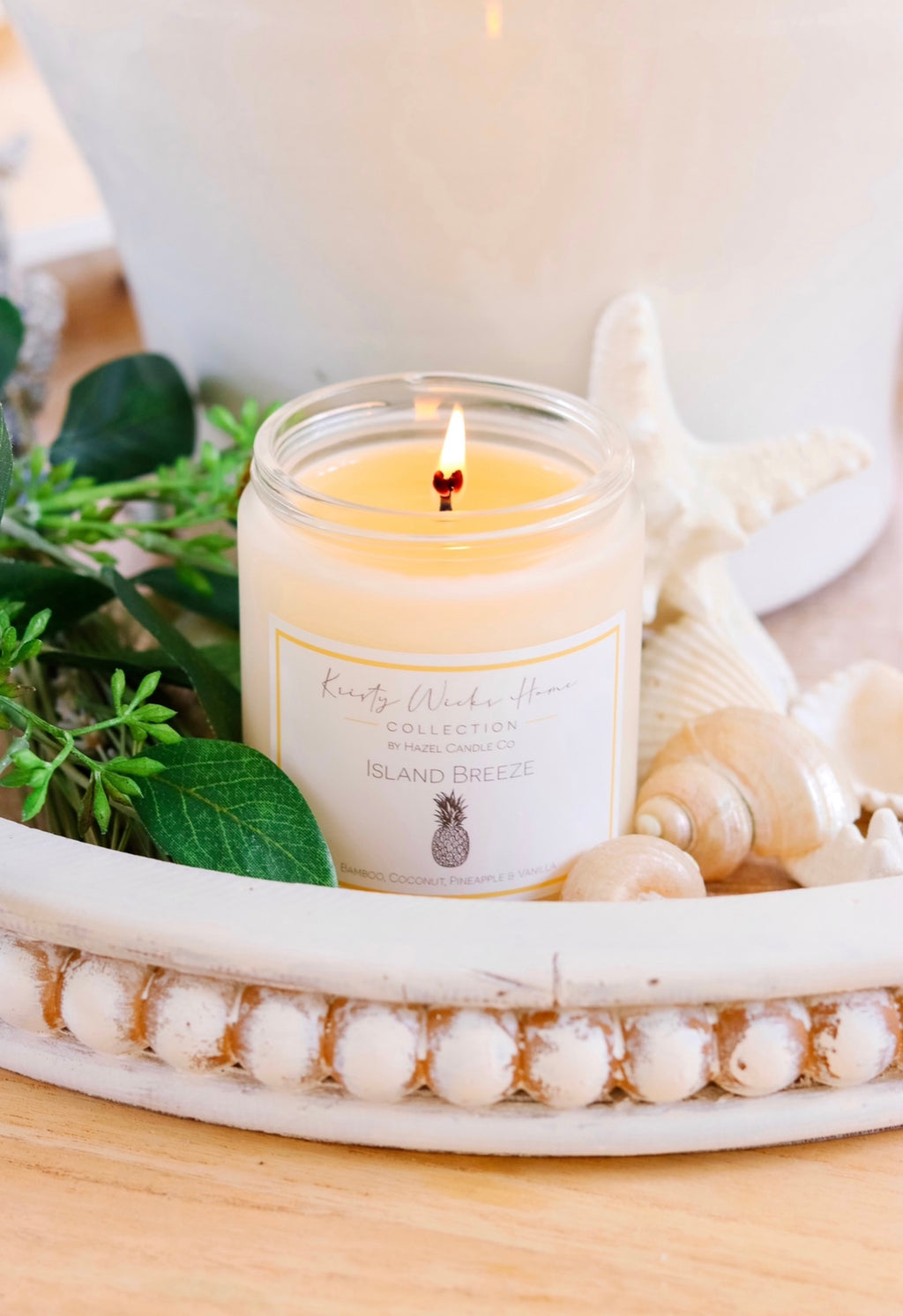 Island Breeze Soy Candle KWH Collaboration