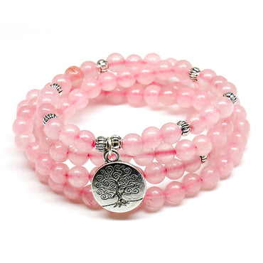 "Bracelet ""Réconfort & Amour"" en Quartz Rose"