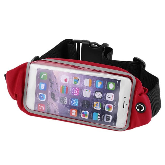 Waterproof Waist Travel Sport Running Belt Money Wallet Pouch  For iPhone 6 Plus 5.5 Sports Pack Hiking Leisure Mini Zip Bag