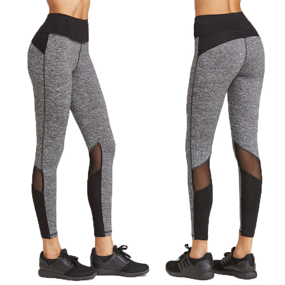Womens Leggings sports clothing Patchwork Calzas running mujer Yoga Sports Fitness Gym Training Pants #E0