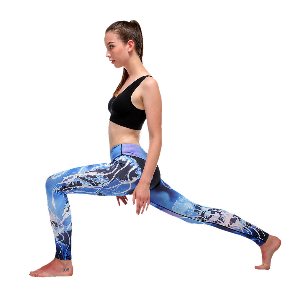 Women Printed Yoga Pants Sport Legging Fitness Gym Pants Workout Running Tight Sport Leggings Female Trousers Dance