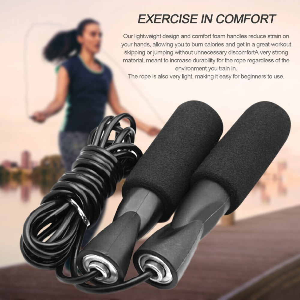 3M Bearing Skip Rope Adjustable Boxing Skipping Sport Jump Ropes Gym Exercise Fitness Equipment with Thickened Anti-slip Foam