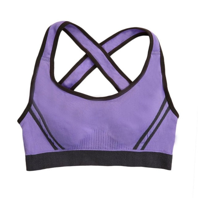 1 PC Women Padded Top Athletic Vest Gym Fitness Sports Bra Stretch Cotton Seamless Multicolors Free Shipping popular
