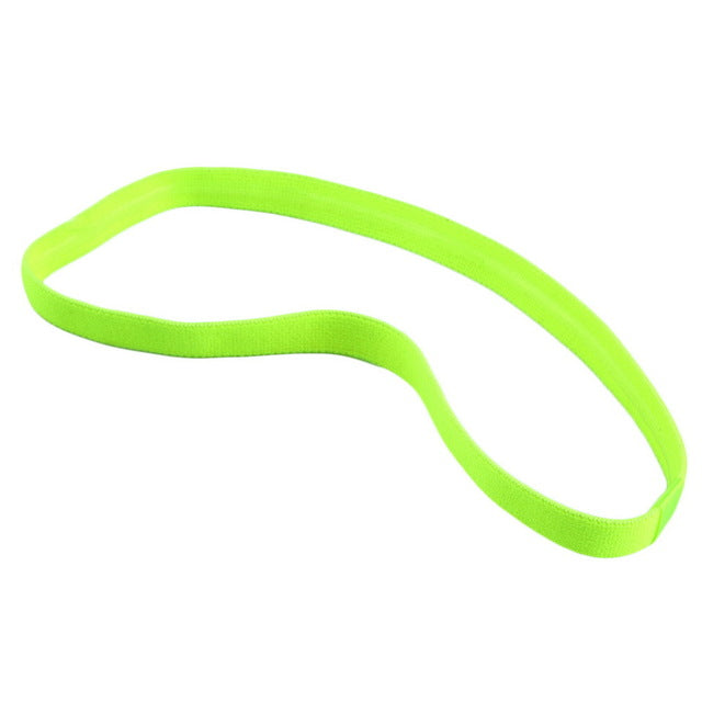 Women Men yoga hair bands Sports Headband Anti-slip Elastic Rubber Sweatband Football Yoga Running biking free shipping