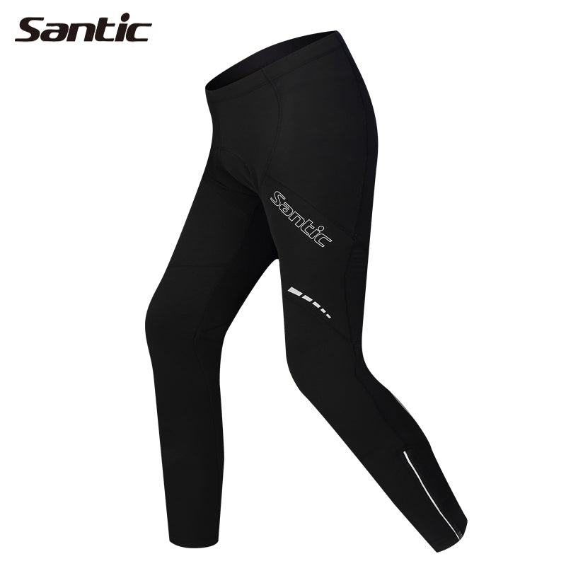 SANTIC Outdoor Sports Cycling Winter Fleece Men's Bicycle Pants-Compass Riding Bike Pants Anti-Sweat Quick Dry Cycling Tights