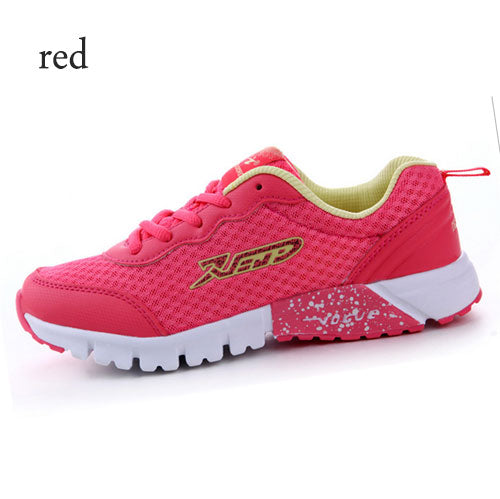 Delocrd Women Sports Running Shoes Breathable Athletic Shoes Loss weight Mesh Summer Style Comfortable sport shoes