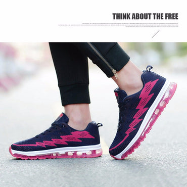 Women Air Cushion Running Shoes Super Light Multi-Color Sports Shoes