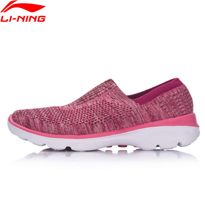 Li-Ning Women The Trend Easy Walker Walking Shoes Textile Breathable Light Weight LiNing Sports Shoes Sneakers