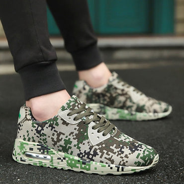 Men Women Camouflage Lovers Shoes Unisex Breathable Sports Shoes Wear Resistant Shockproof Shoes Drop Shipping