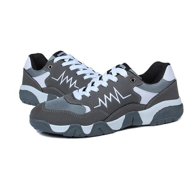 Sports Shoes for Men Slip-resistant Running Shoes Breathable Lace-up Shoes