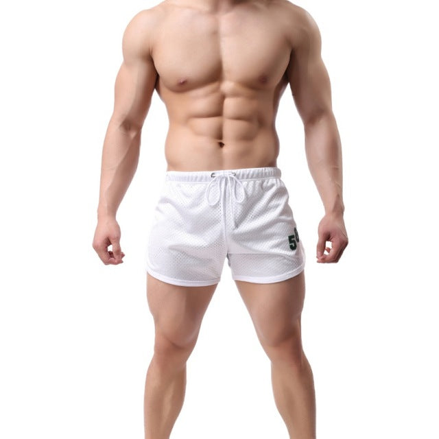 Plus Size 3XL New Drawstring Mesh Men's Shorts Fitness Shorts For Workout