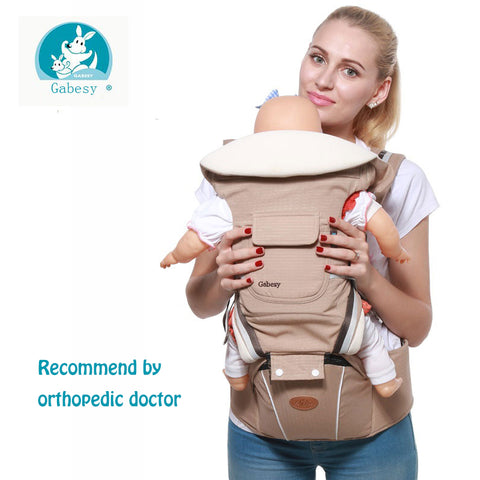 2018 luxury 9 in 1 Baby Carrier Ergonomic Carrier Backpack  Hipseat for newborn and prevent o-type legs sling baby Kangaroos