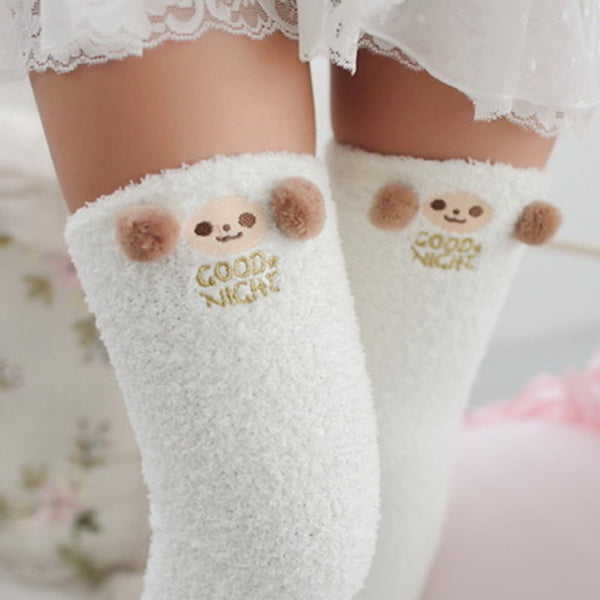 Winter Warm Animal Knee High Compression Stockings (Various)