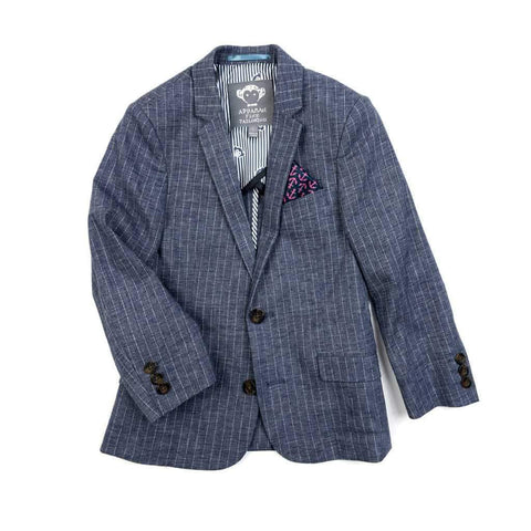 Appaman Boys Chambray Stripe Linen Sports Jacket Sports Jackets Appaman