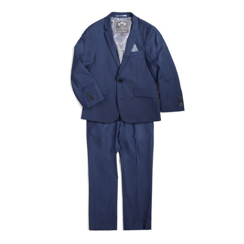 Appaman Mod Boys Slim Bright Blue Suit T8SU4 Suits (Boys) Appaman