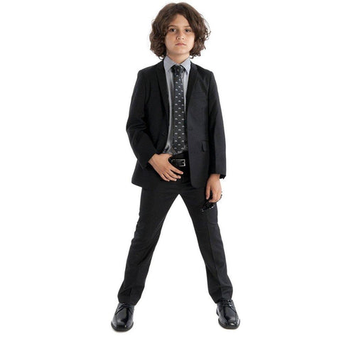 Appaman Mod Boys Slim Classic Black Suit Suits (Boys) Appaman
