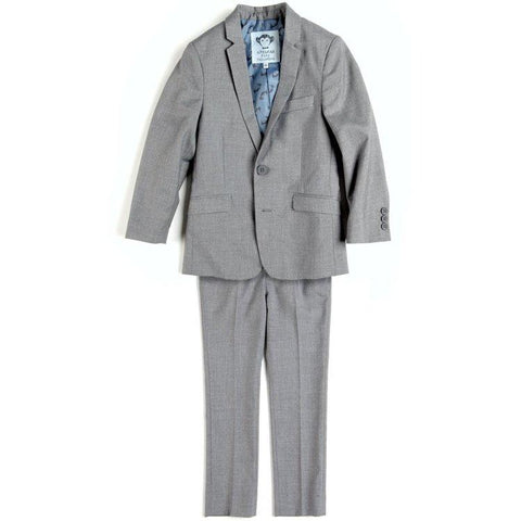 Appaman Mod Boys Slim Classic Mist Grey Suit Suits (Boys) Appaman Mist 8