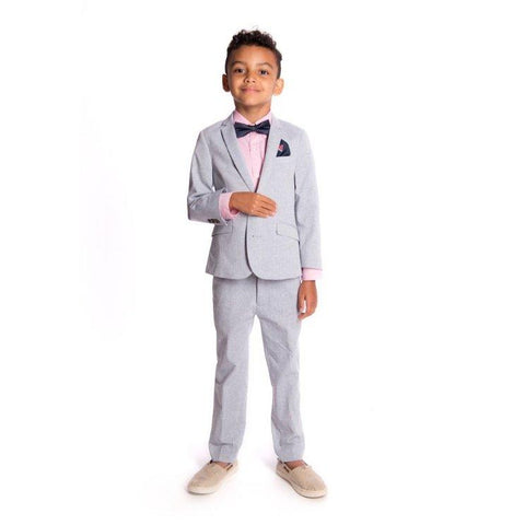 Appaman Mod Boys Slim Sky Blue Suit T8SU8 Suits (Boys) Appaman