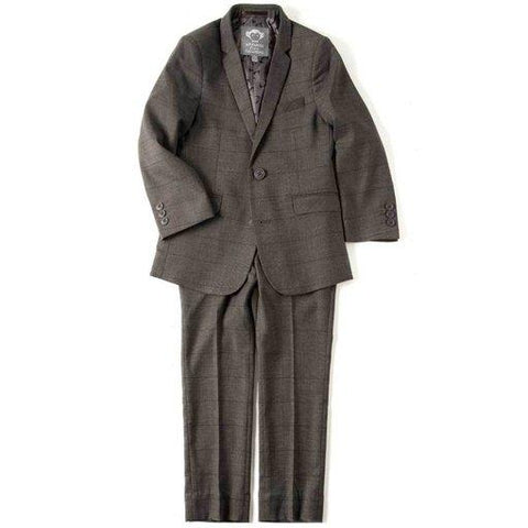 Appaman Mod Boys Slim Wales Check Charcoal Suit Q8SU6 Suits (Boys) Appaman Charcoal 4T