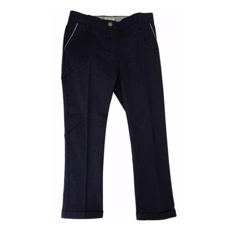 Armani Junior Cotton Pant 171 3Y4P14 Cotton Pants Armani Navy 10R