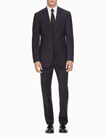 Calvin Klein Extreme Slim Mens Navy Wool Suit Suits (Men) Calvin Klein