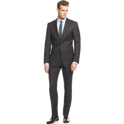 Calvin Klein Extreme Slim Mens Wool Black Suit 5FY0110 Suits (Boys) Calvin Klein