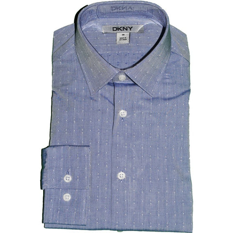 DKNY Boys Shirt 171 SY0253 Dress Shirts DKNY Blue 12R