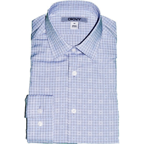 DKNY Boys Shirt 171 SY0260 Dress Shirts DKNY Blue 8R