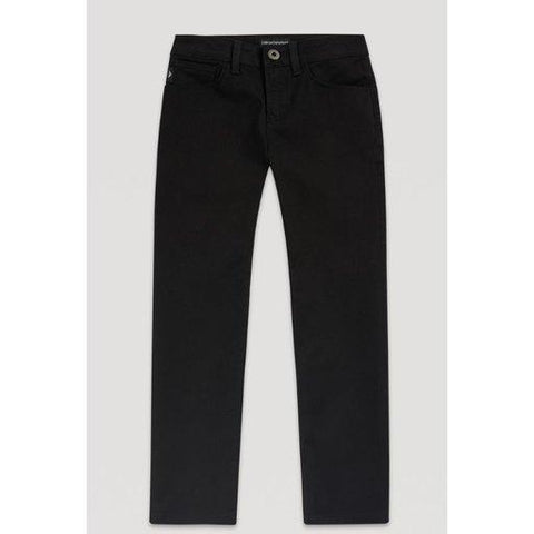 Emporio Armani Boys 5 Pocket Pant 182 Cotton Pants Emporio Armani Black 10S