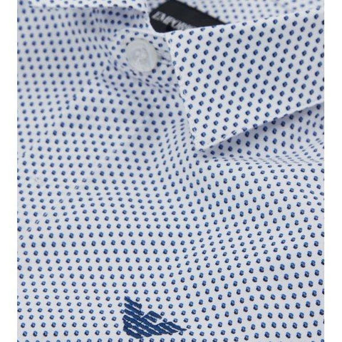 Emporio Armani Boys Printed Dress Shirt 3G4CJ2 Dress Shirts Emporio Armani