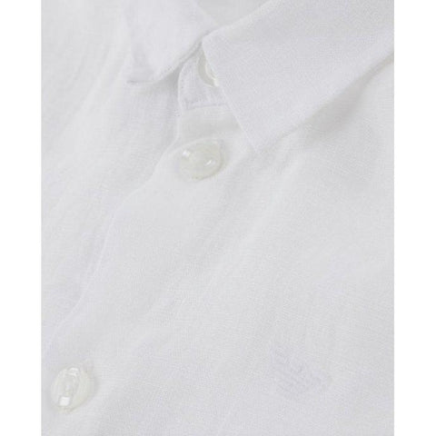 Emporio Armani Boys Solid Dress Shirt 8N4C09 Dress Shirts Emporio Armani