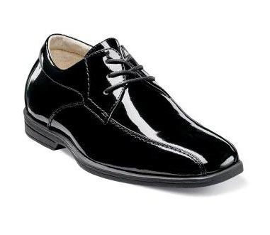 Florsheim Kid's Shoe Reveal Bike Patent Ox Jr. Footwear - Youth - Non Designer Florsheim Black-004 11.5