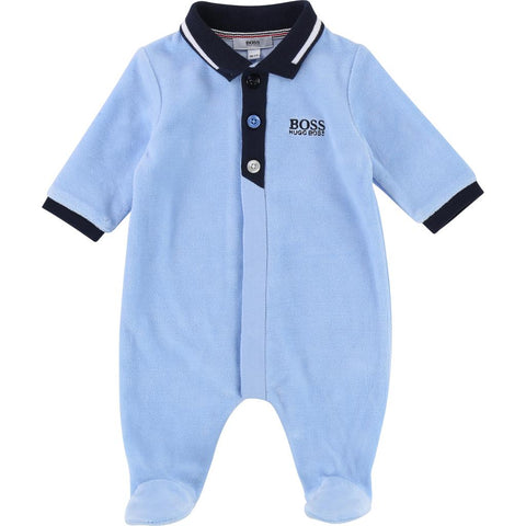 Hugo Boss Baby Pyjamas 182 J97130 Sleepers Hugo Boss Chambray Grey 3 mo