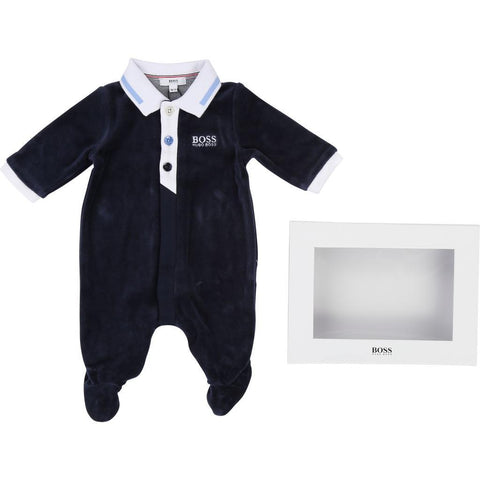 Hugo Boss Baby Pyjamas 182 J97130 Sleepers Hugo Boss Navy 6 mo