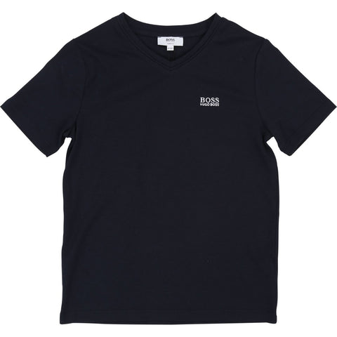 Hugo Boss Boys Basic Short Sleeves V Neck T-Shirt T-Shirts Hugo Boss Black 8