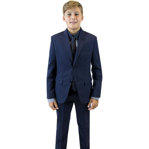 Hugo Boss Boys Classic Slim Navy Wool Suit Suits (Boys) Hugo Boss
