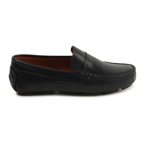 Hugo Boss Boys Navy Moccasin Footwear - Youth - Designer Hugo Boss