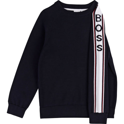 Hugo Boss Boys Pullover Sweater 192 J25E08 Sweaters Hugo Boss