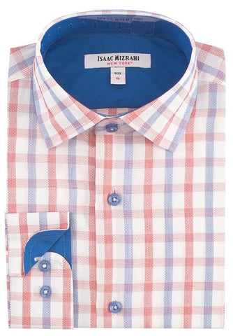 Isaac Mizrahi Boys Grid Dress Shirt Dress Shirts Isaac Mizrahi