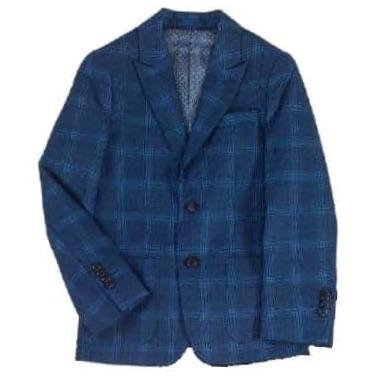 Isaac Mizrahi Boys Slim Fit Blue Plaid Blazer Sports Jackets Isaac Mizrahi