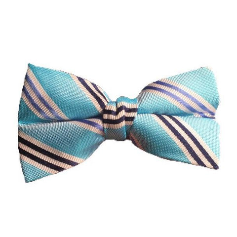 Lauren Ralph Lauren Boys Bow Tie Ties Lauren Ralph Lauren Aqua Striped
