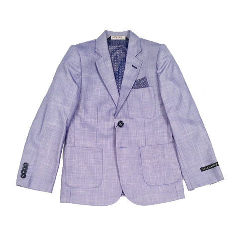 Leo & Zachary Boys Slim Blue Blazer BLZ851 Sports Jackets Leo & Zachary