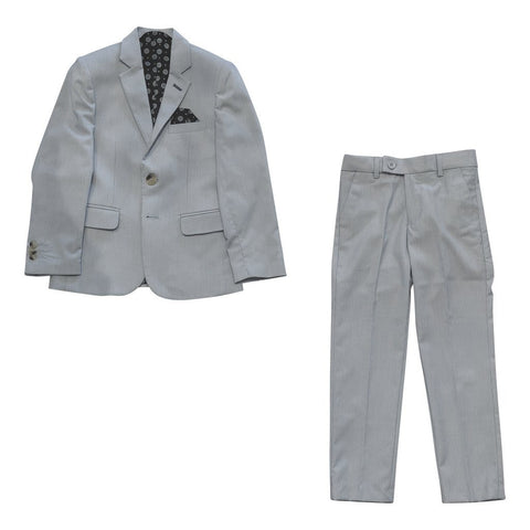 Leo & Zachary Boys Slim Blue Suit Searsucker 181 SUIT32 Suits (Boys) Leo & Zachary