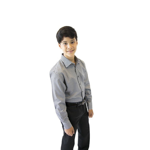 Leo & Zachary Boys Slim Shirt 172 5537 Dress Shirts Leo & Zachary